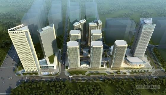 单体建筑酒店设计资料下载-[成都]城市核心区规划及单体建筑设计方案文本(含4个地块)