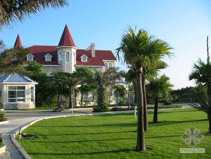 [广东省]某蔚蓝加勒比海风情主题休闲度假区建筑设计分析