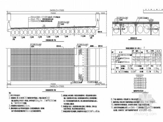 [上海]绕城高速预应力混凝土板梁桥桥面及梁体维修图纸(含防眩设计)