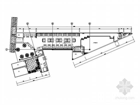 [浙江]工业混搭风时尚餐厅室内施工图(含效果图)