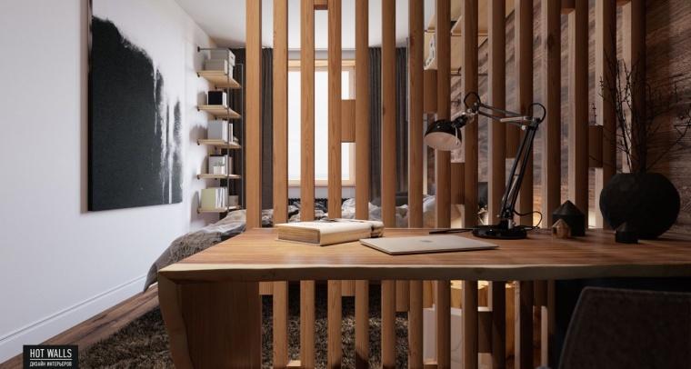 俄罗斯:木质与黑色调营造温暖酷炫的居家氛围_12