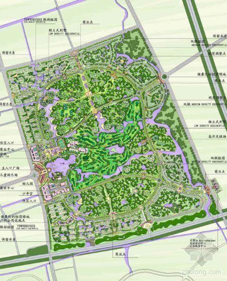 [上海]高尔夫别墅区景观概念性规划方案