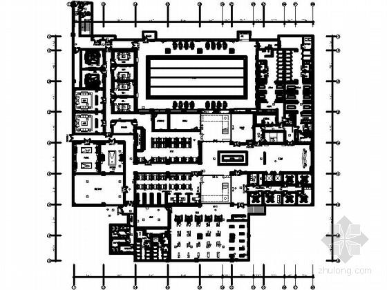 [北京]高层住宅区现代休闲会所精装修设计施工图