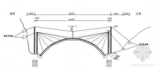 桥梁缆索吊装总体布置图