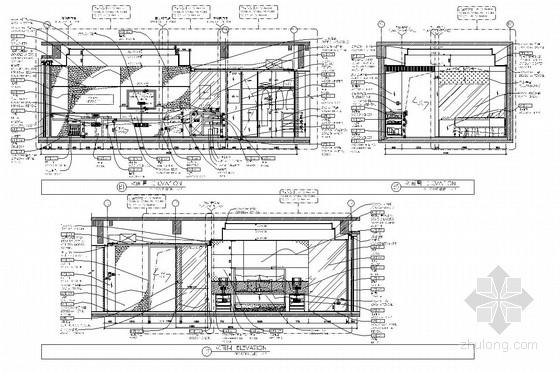 [湖南]1中央商务区五星级商务酒店客房部分室内施工图 立面图