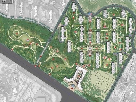 [济南]新古典主义建筑风格居住区景观规划设计方案