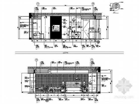 [北京]东三环CBD全球控股超五星级高端豪华白金酒店施工图(含效果)客房立面图