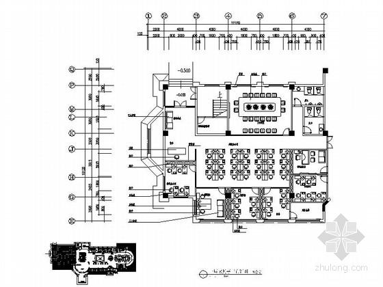 [安徽]房地产开发现代办公室设计装修图