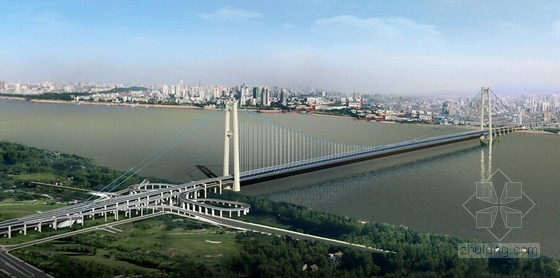 [湖北]10车道主跨1700m世界第二大跨双层悬索桥初步设计说明183页(附图精美)