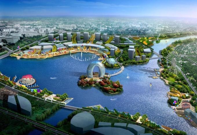 """[辽宁]""""一纵五横""""水系景观概念性规划设计_6"""