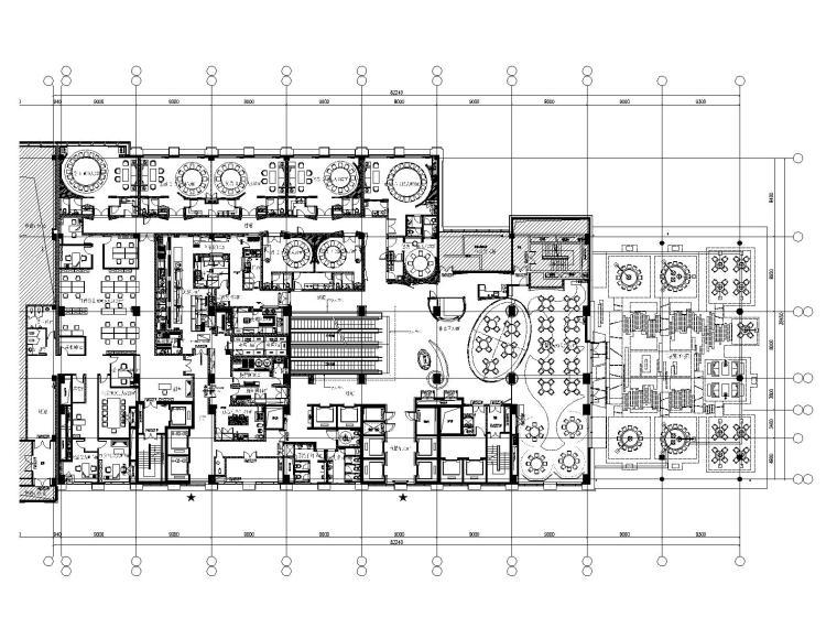 某大型中餐厅装修设计全套施工图