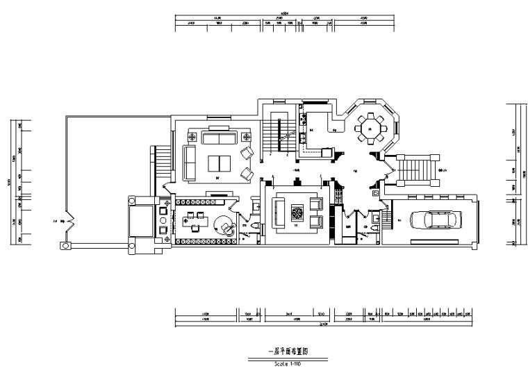 [河北]新古典风格红山庄园别墅设计施工图(附效果图)