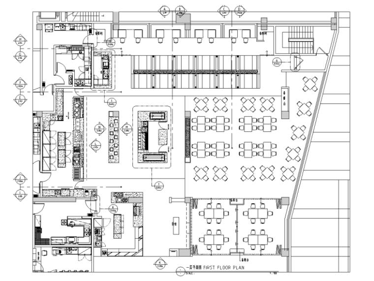 [四川]酒店一层全日餐厅室内装修施工图