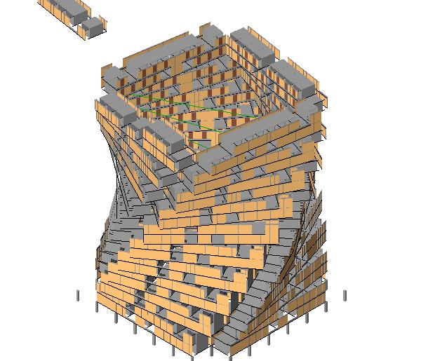 BIM模型-revit模型-集合住宅模型
