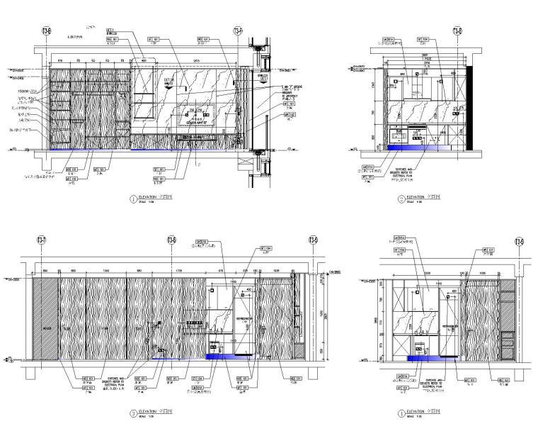 [深圳]华润大涌西塔T3公寓入户大堂+3套样板间施工图+物料表_11