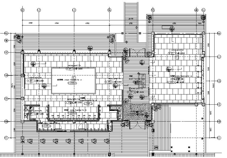 主餐厅一层地面铺装图
