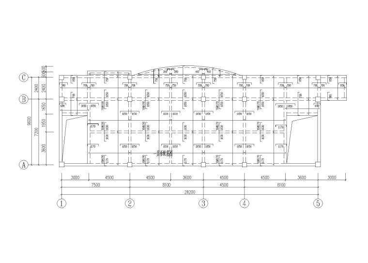 四川3层框架结构小学综合楼结构施工图2012