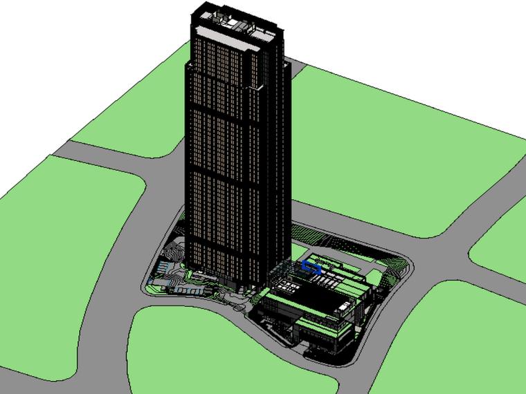 BIM模型-revit模型-超高层办公大厦Revit模型