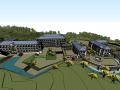 欧式风格酒店su模型(建筑及景观)
