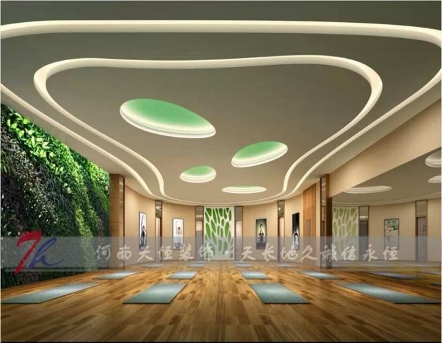 郑州瑜伽馆装修设计,瑜伽会所瑜伽室装饰设计