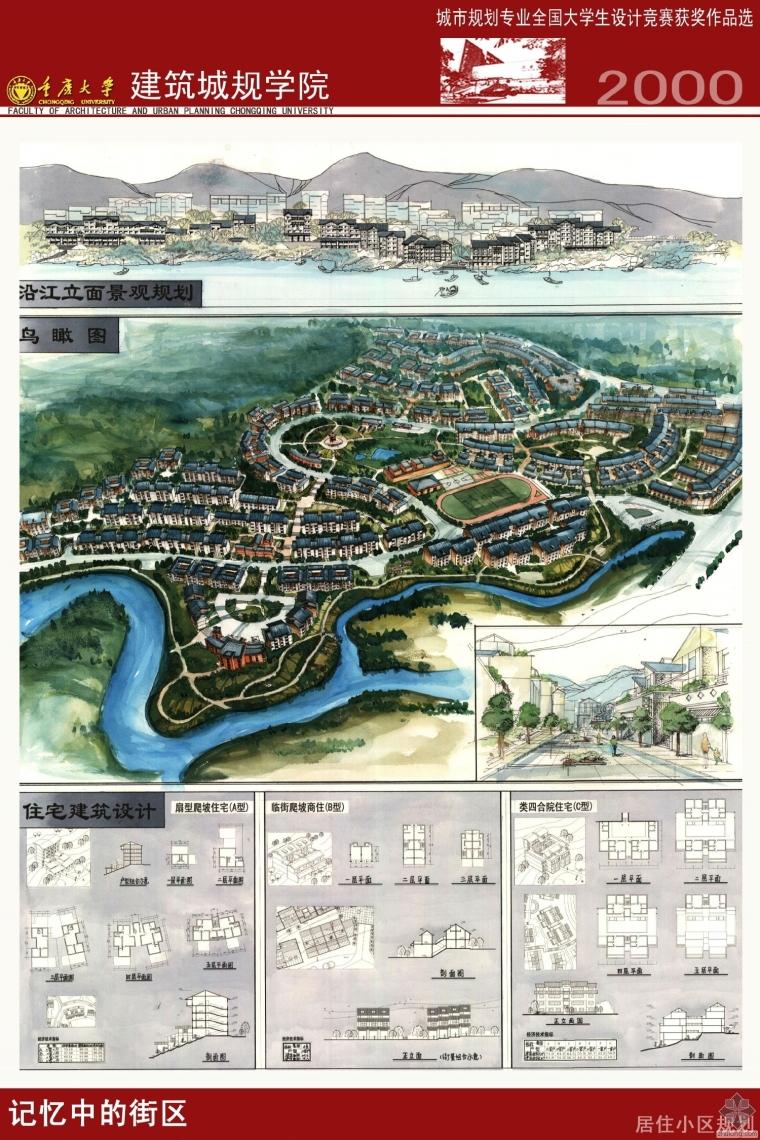 2000年城市规划专业全国大学生设计竞赛获奖作品选
