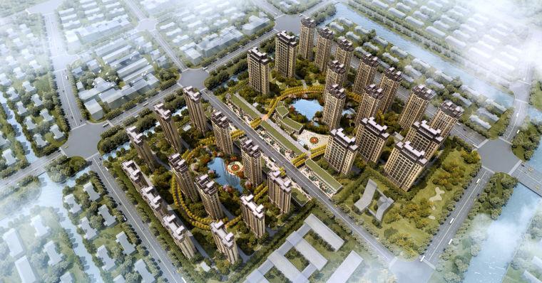 [上海]奉贤南桥新城居住区建筑设计方案文本_1