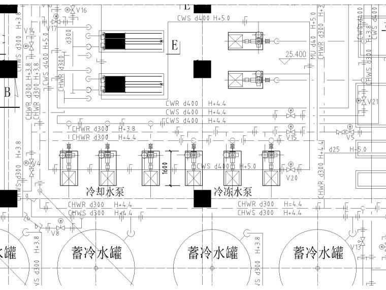 华为武汉研发生产项目冰蓄冷机房图纸(含自控原理图)