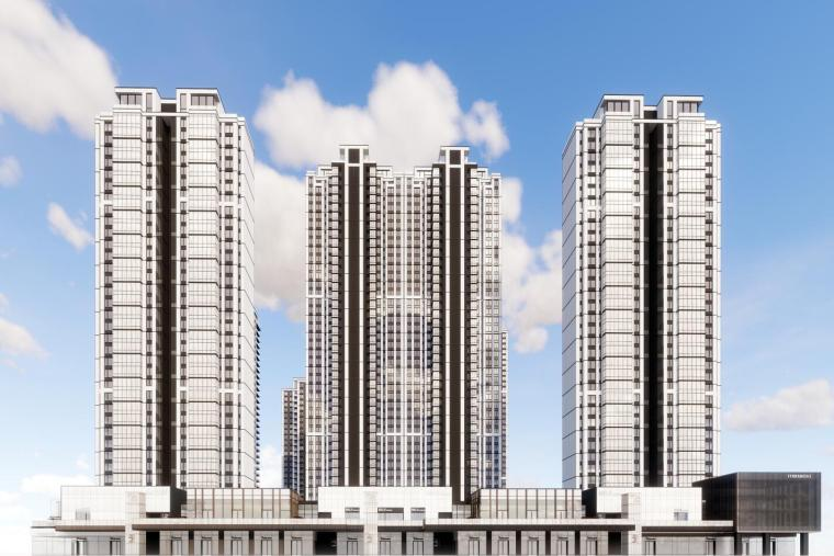 [四川]成都华润居住区现代商业+高层住宅模型设计