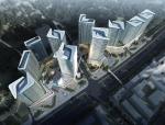 [深圳]蝴蝶状10栋超高层办公楼建筑设计方案文本(图纸超详细)