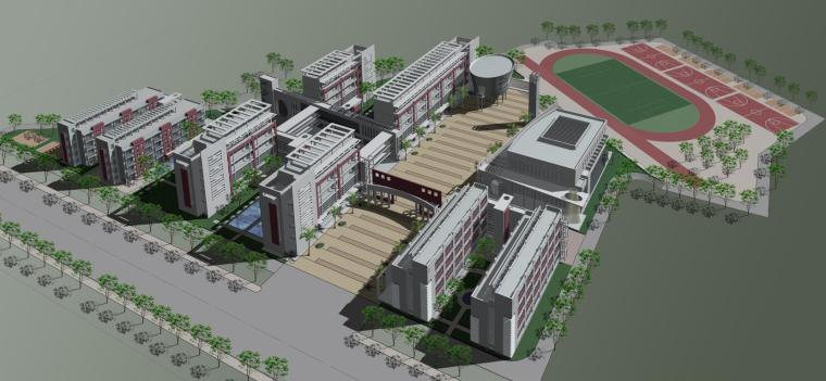 [广东]番禺南某村中心小学方案文本设计(包含PS+CAD+MAX)