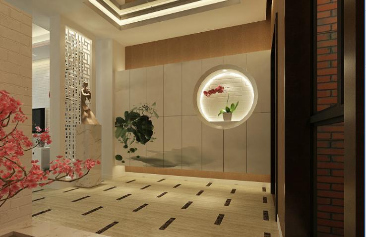 某中式风格联排别墅室内装修设计施工图及效果图_8