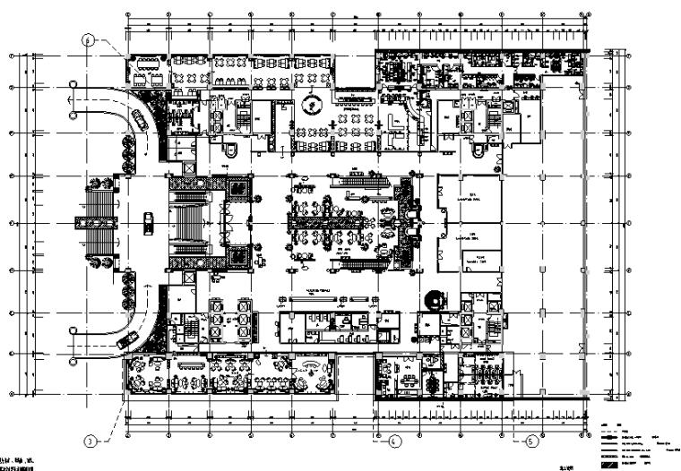 23000平米酒店空间设计施工图(附效果图+材料表)_1