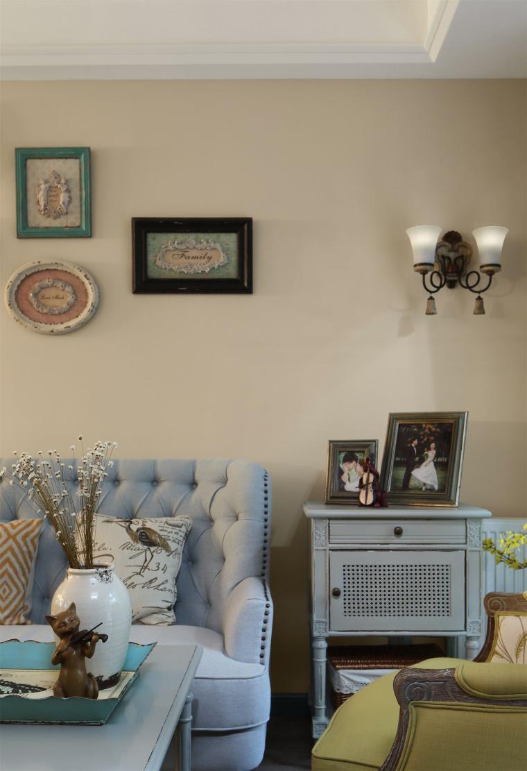 透着闲碎时光的公寓室内实景图 (1)