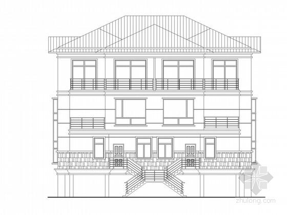 某三层独栋别墅建筑施工图