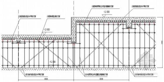 高低板块框架梁剪刀撑搭设示意图
