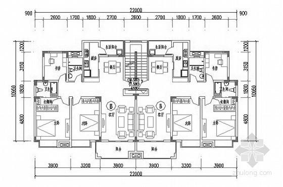 某多层板式顶层复式住宅户型图(115)