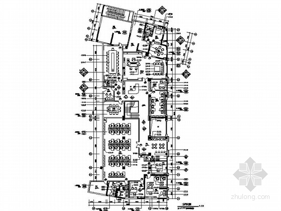 [广东]投资公司办公室室内装修施工图(含方案效果图)