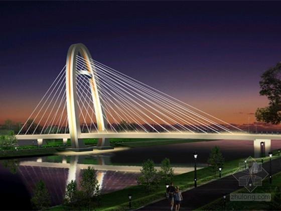 [山东]拱塔空间双索面斜拉桥施工图设计74张