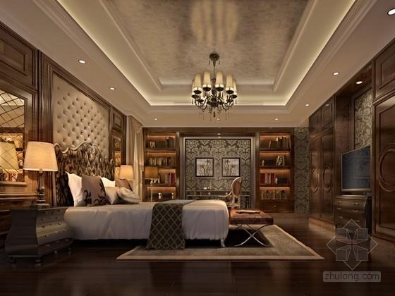 欧式奢华卧室3D模型下载