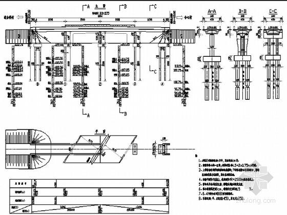 [黑龙江]4孔普通钢筋混凝土连续箱梁桥施工图56张(6米宽连续梁)