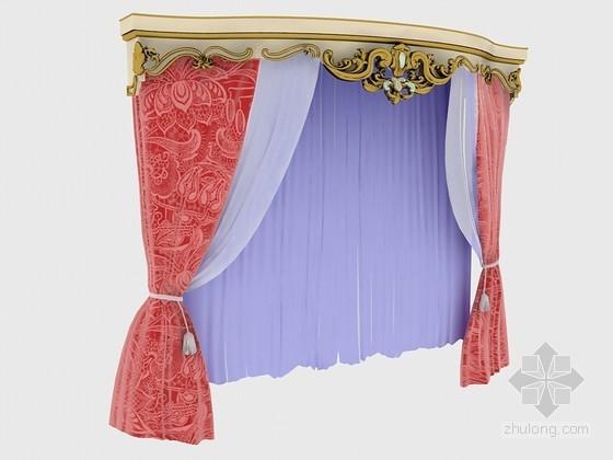 美丽大方窗帘3D模型下载
