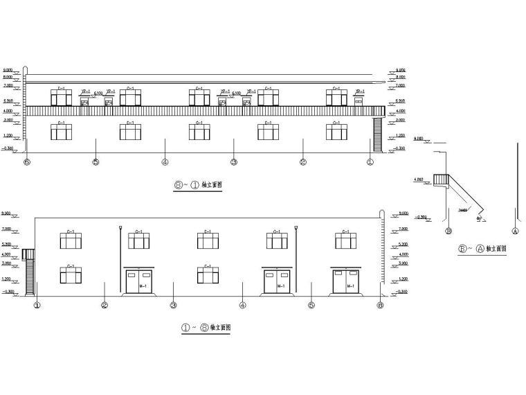 一层框架结构托电技改备品备件库房施工图
