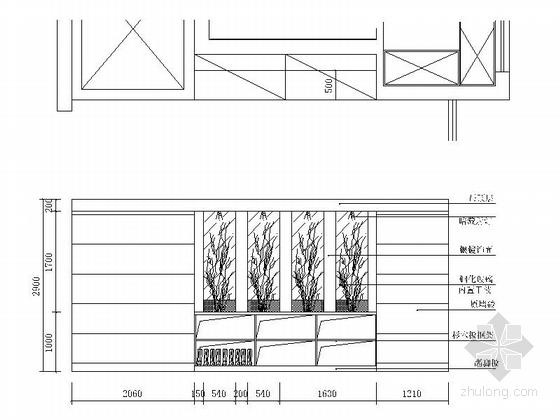 [无锡]滨湖知名地产现代五居室装修图(含效果)门厅立面图