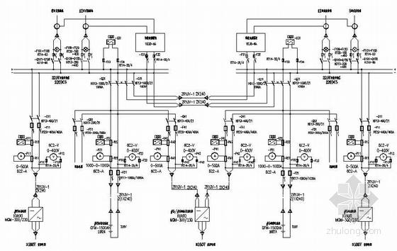 温州某电厂主厂房220V直流系统电气施工图