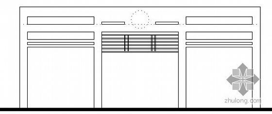 [四川邻水]某中学实验学校新校区大门建筑施工图