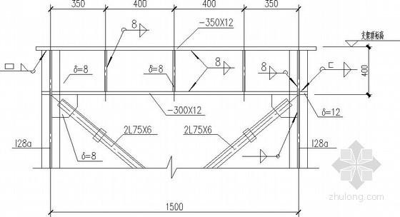 煤气管道外网支架节点构造详图