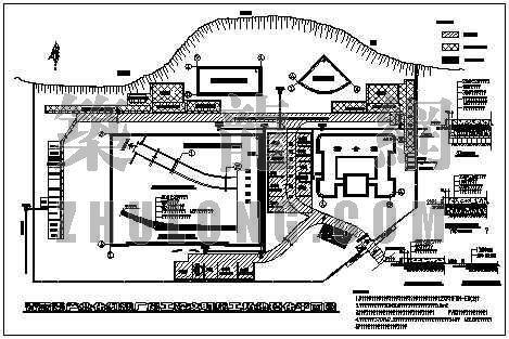 青蒿素产业化制剂厂房工程文明施工场地硬化平面图