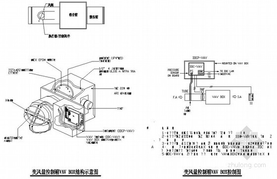 VAV空调设计图纸资料下载-某研发大楼变风量空调设计图纸