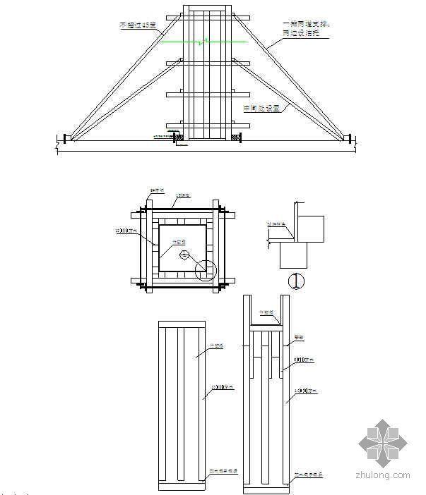 柱模板施工技术交底(多层板)