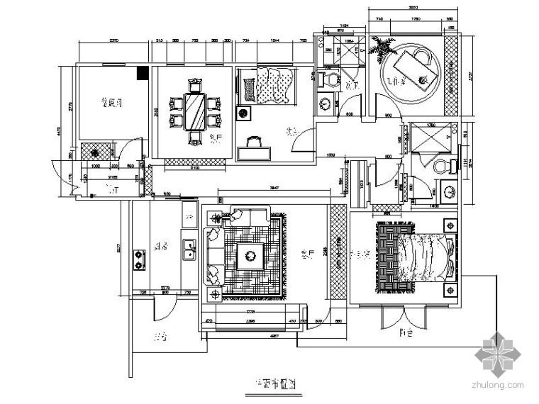 [武汉]某五居简装室内装修图